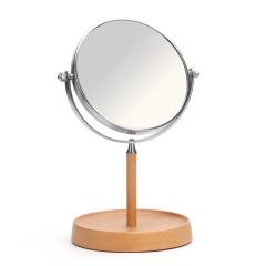 木質臺式翻轉美容鏡 簡約設計 員工福利