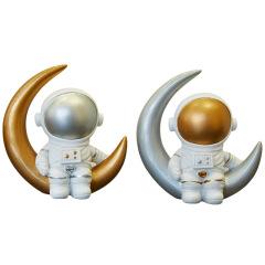 宇航员坐月亮 太空人桌面摆件 商务礼物