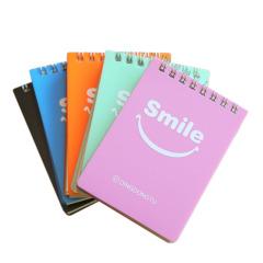 笑脸线圈便携笔记本 广告便签本定制 商务小礼品赠品