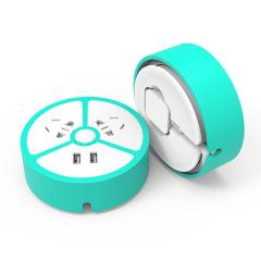 创意小柠檬随身充电排插座 外出旅游多USB充电器迷你便携接线板 创意礼品定制 酒店小礼品
