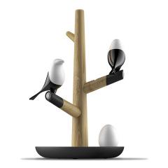喜上梢智能感應燈置物收納擺件架光控小鳥樹枝磁吸小夜燈 高級禮品