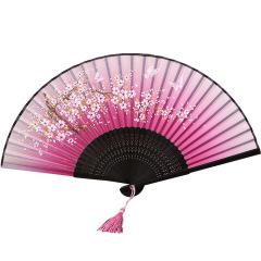 中国风丝绸一笑扇 复古风折扇 礼品扇定制
