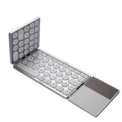 带触控板三折磨砂蓝牙折叠键盘 迷你口袋键盘 活动嘉宾礼品