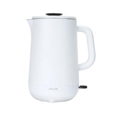 德世朗(DESLON)时尚磨砂几何竖条纹壶面设计电热水壶 企业活动礼品定制