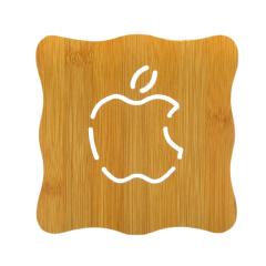 大号镂空防烫加厚木质隔热垫 杯垫--苹果 店铺活动礼品