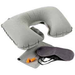 戶外旅行充氣枕頭 旅游三寶 U型枕眼罩耳塞組合套裝(配收納包)