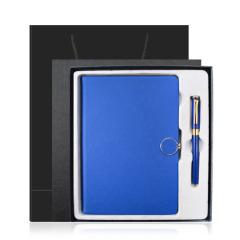 多色商务平装笔记本礼盒 A5记事本+签字笔组合两件套 商务套装定制