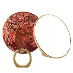 【颐和园】瑞鹿和颐化妆镜子+立体指环支架  多功能设计 展会小礼品