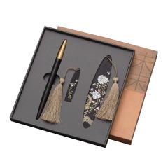 琼枝红木 中国风特色伴手礼三件套 书签+16GU盘+签字笔 创意文具礼盒
