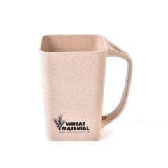 家用方形水杯小麦倾斜牙刷漱口杯 简约时尚 实用的奖品