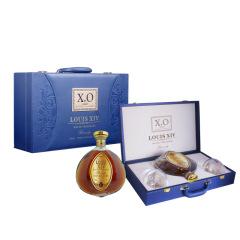 【尊典礼盒A】春节礼盒套装 白兰地金标特级700ml*1+意大利进口RCR洋酒杯*2 春节给员工送什么