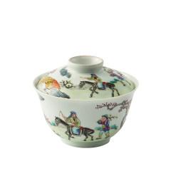 【中国国家博物馆】仿清道光慎德堂道光人物盖碗茶具 有特色的纪念品