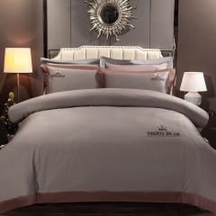 竹印象 泰迪熊女王高端系列 伊丽莎白王冠床品套件 浅卡其色空调被套装 送客户礼品