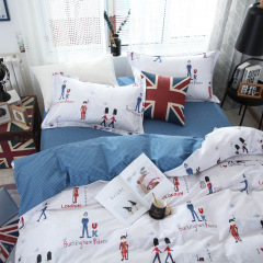 英倫款 家紡床上用品四件套 安全月活動紀念品