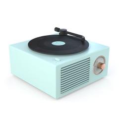 复古留声机音箱 迷你小音箱便携原子唱机 高颜值居家蓝牙音响  活动小礼品 送客户礼品定制
