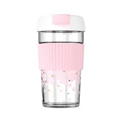 樱花杯日式玻璃杯 便携少女心可爱水杯 活动小礼品