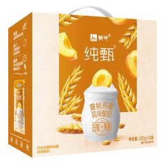 【京东伙伴计划—仅限积分兑换】蒙牛 纯甄 常温风味酸牛奶 燕麦+黄桃 200g*10 早餐奶酸奶 礼盒装