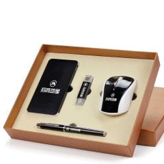 鼠标+充电宝+8GU盘+签字笔四件套 公司年会展会套装礼品 员工福利