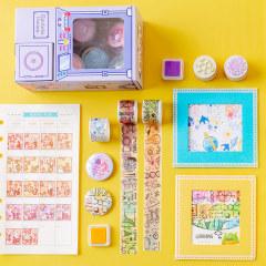 创意好玩扭蛋幸运机和纸胶带组合 徽章+印章+印泥组合摇摇盒 创意小礼品
