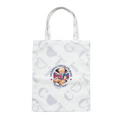 卡帝乐鳄鱼(CARTELO)精典泰迪联名款 泰迪熊帆布手拎袋 公司活动小礼品
