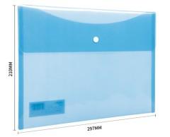 得力(deli)A4双色透明文件资料袋 促销礼品定制