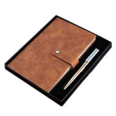 加厚内芯更耐用笔记本礼盒 皮面搭扣记事本 办公礼品定制 logo定制