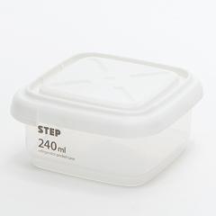 方形有刻度透明密封收纳罐 保鲜盒(240ML)小区活动 小礼品