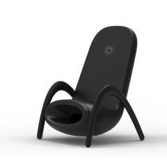 沙滩椅造型扩音无线充 创意手机无线充电器 手机礼品