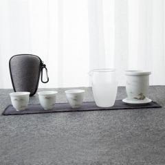 【茶行天下】创意便捷旅行六件套茶具套装 拜访客户礼品建议