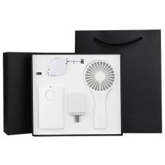 简约夏季商务礼盒 小风扇+移动充+快充充电头+一拖三数据线 商务礼品定制