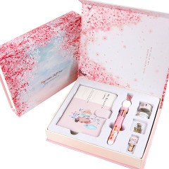 樱花猫咪彩页计划本套盒 小清新手账本礼盒套装 创意商务礼品