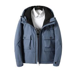 冬季男士短款羽绒服 宽松加厚时尚休闲工装外套 可定制公司logo