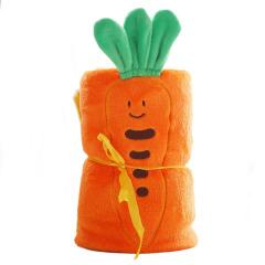 【胡萝卜】水果卷卷毯精细做工精美图案 法兰绒面料舒适柔软 实用不贵的礼品
