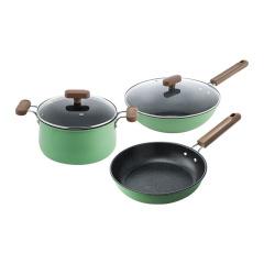 德国NOLTE 伊甸美厨三件套 炒锅汤锅煎锅 公司年会准备的礼品