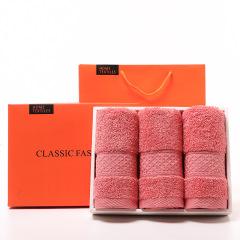 全棉毛巾礼盒三条装 礼盒套装 公司周年庆纪念品可以做什么
