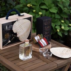 【千里粽情】粽子桂花酒青梅酒 环保扇玻璃杯套装 端午节相关礼品