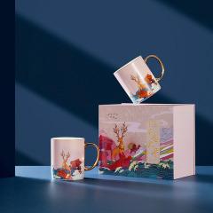 六合太平马克杯礼盒套装 中国风情侣马克杯咖啡陶瓷杯礼品 文创性强的礼品有哪些