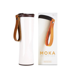 MOKA轻智能咖啡杯 精密滤网真空智能测温保温杯车载水杯 公司活动礼品