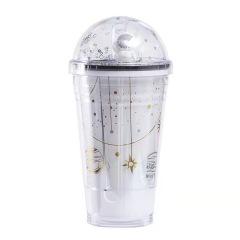 创意宇航员太空杯 太空人星球杯吸管杯 中秋创意礼品