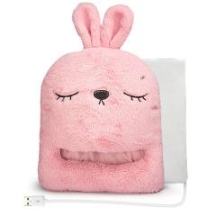 【USB型】卡通仿兔绒暖脚宝 电热暖脚暖腿电暖鞋 实用宣传小礼品