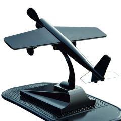 仿真飛機模型汽車擺件太陽能車載飾品      汽車用品創意禮品