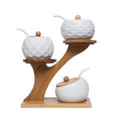 创意陶瓷调味罐套装调 童心概念厨房用品 公司活动小礼品