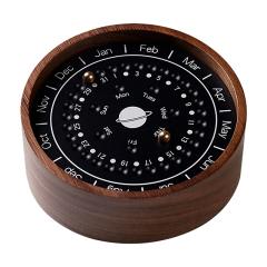 创意木质行星日历 办公家居桌面木制工艺品摆件定制