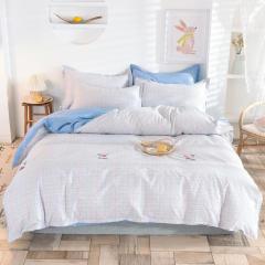 【安道尔】全棉印花床上四件套 高支高密纯棉床上套件 1.5米/1.8米/2米