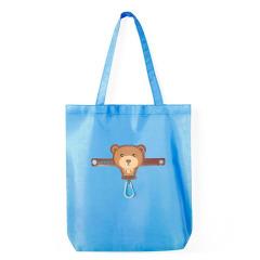 小熊 创意带挂扣卡通多彩可折叠环保防水收纳袋 礼品定制 10元小礼品