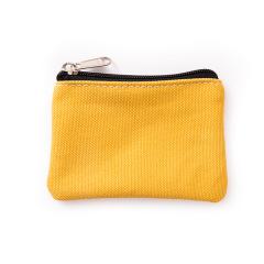 全棉帆布素色零钱包 简约布艺小包包 迷你收纳包 促销赠品