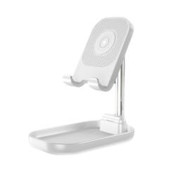 新款WS4折叠伸缩手机支架无线充电通用懒人桌面支架       有什么实用的小礼品