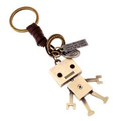 小叉合金机器人 纯手工牛皮编织钥匙扣挂饰 医学展会上发什么礼品好