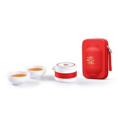 如意吉祥 华灯新春特别款功夫旅行茶具套装组 一壶二杯茶具套装