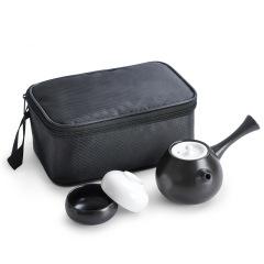 侧把壶旅行茶具套装三件套 一壶二杯 宋代名窑 定窑出品茶具礼品 50元左右的礼品